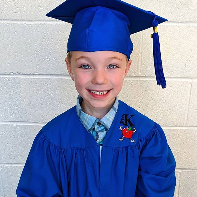 My baby graduated Pre-K today! He isn't a baby anymore, so I'm balling... BUT I am so proud of him 💙 I can already tell he is going to go SO far in life from what a sweet little soul he is.