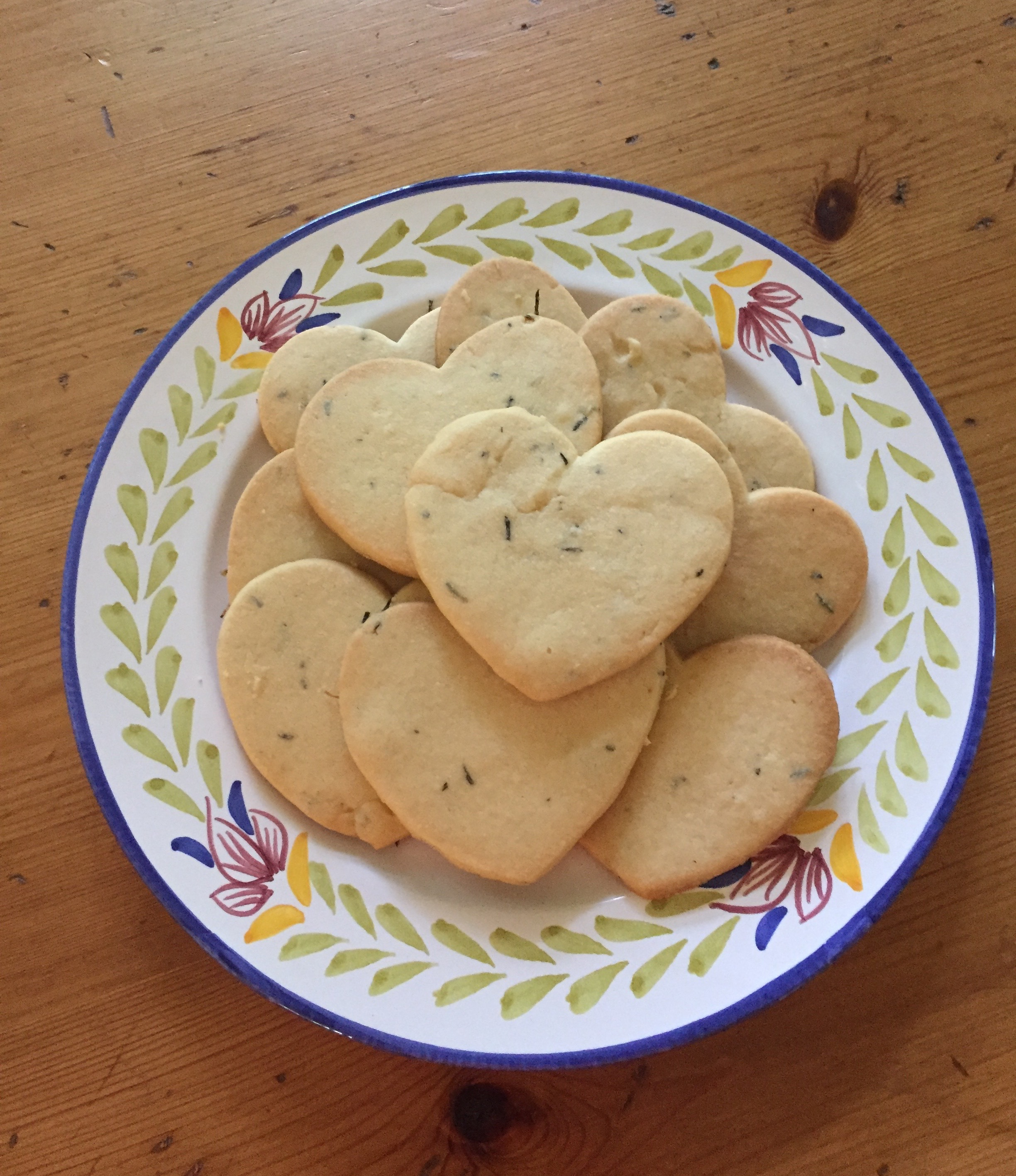 Massachusetts Center for the Book's first batch of Rosemary Shortbread, vanished quickly after photographed!