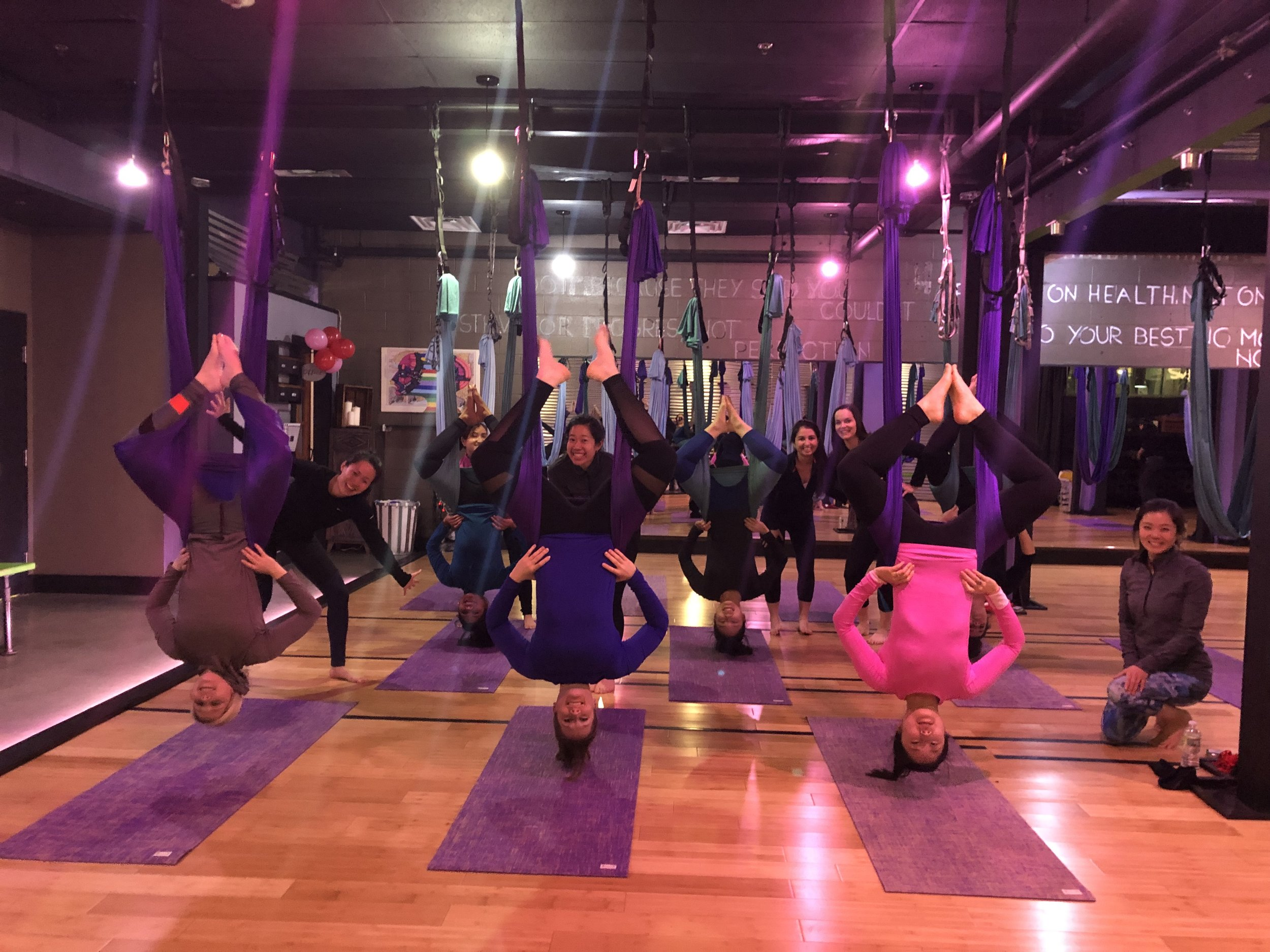 Galentine's Day Aerial Yoga - February 14, 2019