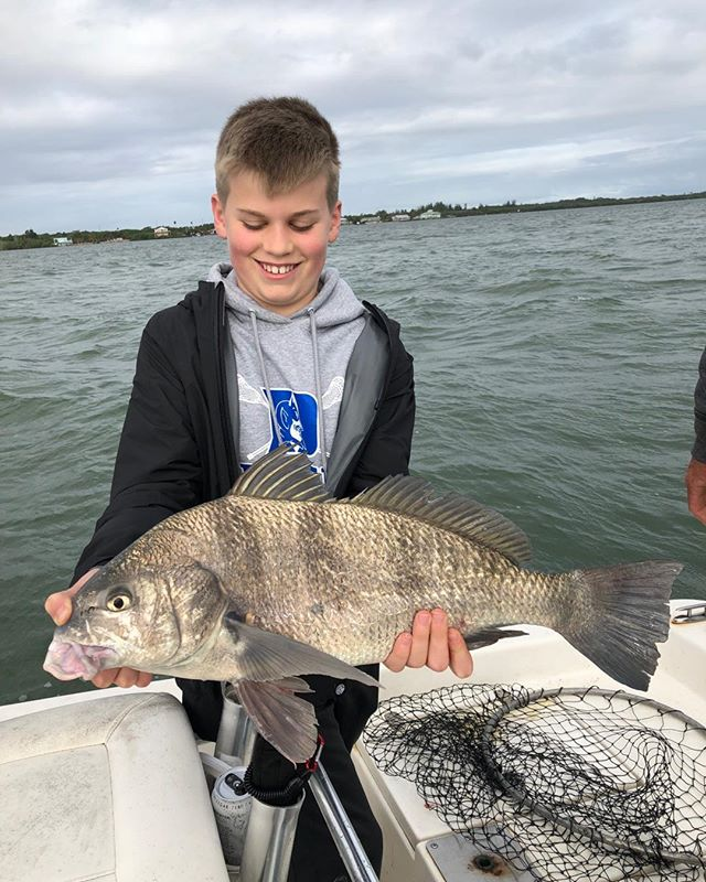 Alex sure was proud of his biggest fish he ever caught#powerpole #evinrude #boatnmotors#ofishlyhooked#takeakidfishing#verobeachfishingcharters