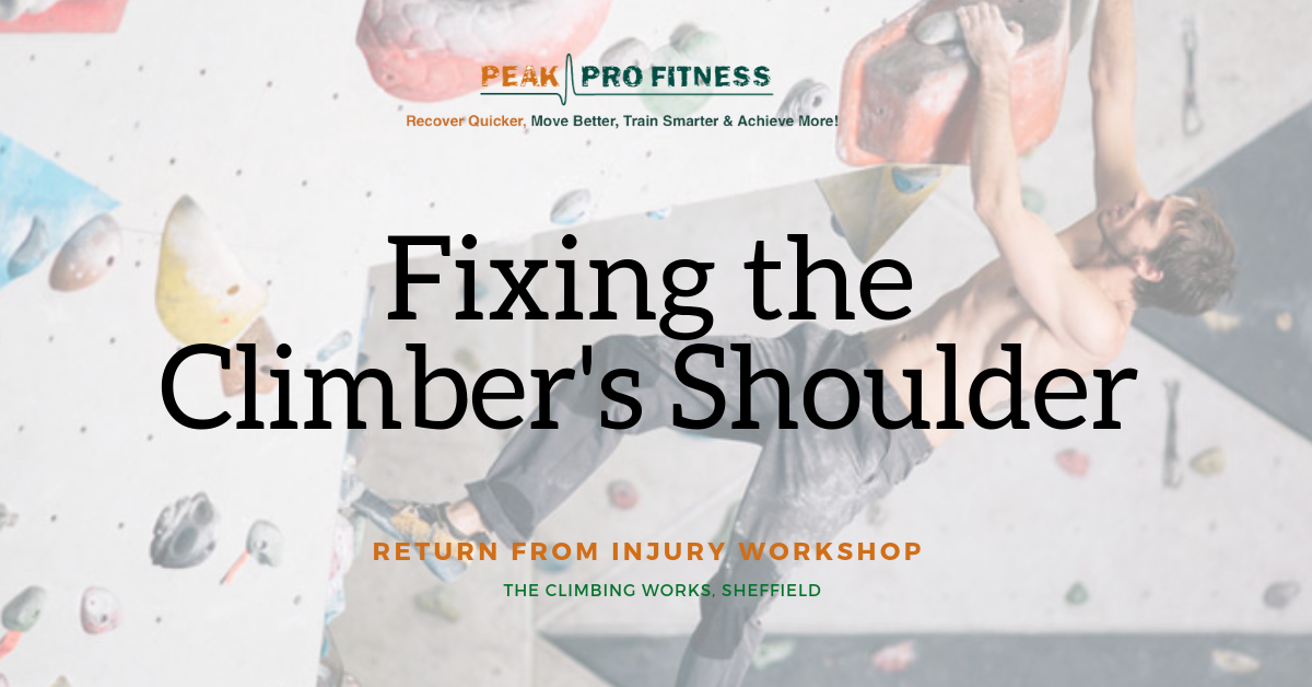 Peak Pro Fitness - Expert Workshop - Climbing Injury Prevention