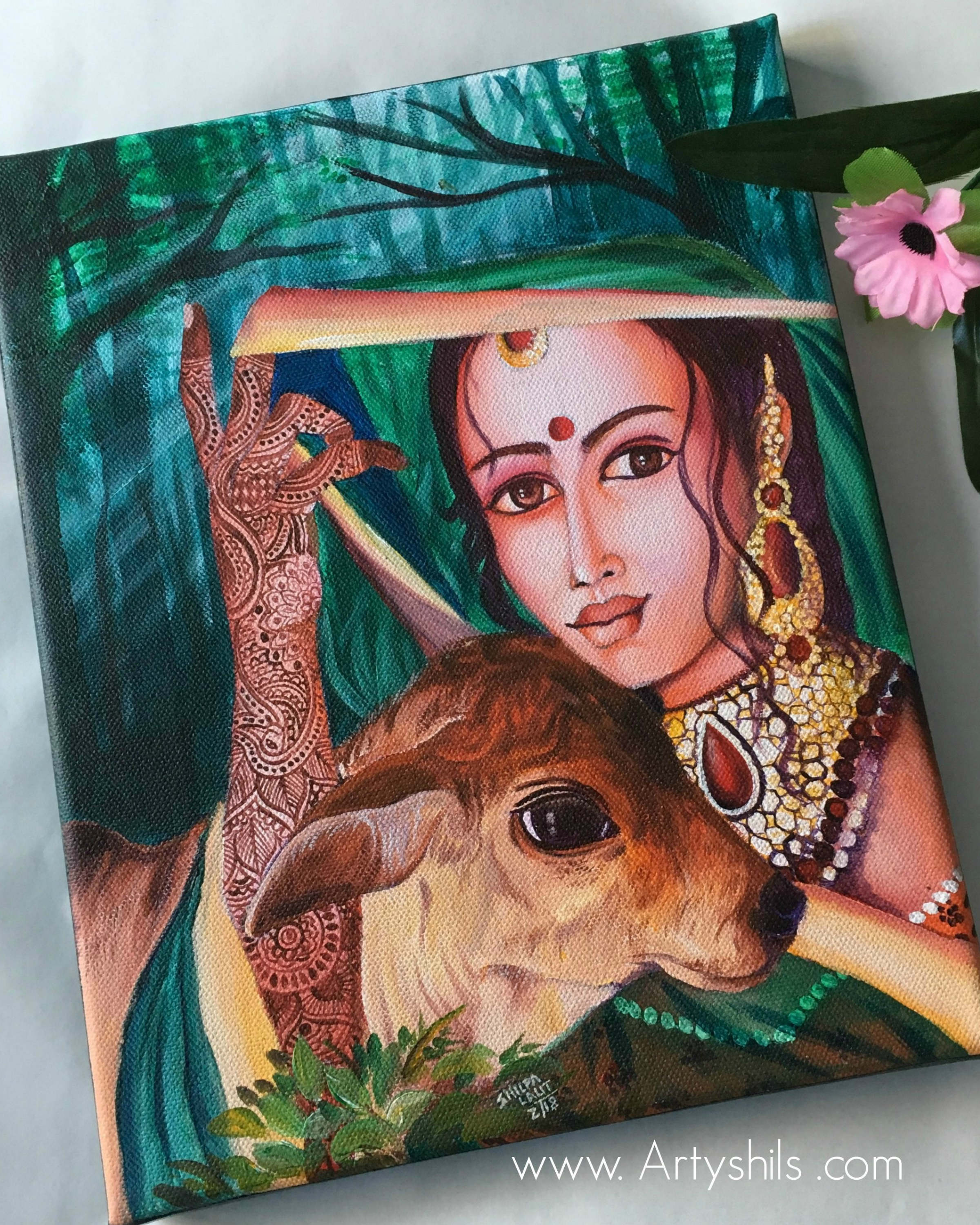 """ Radha with the holy cow """