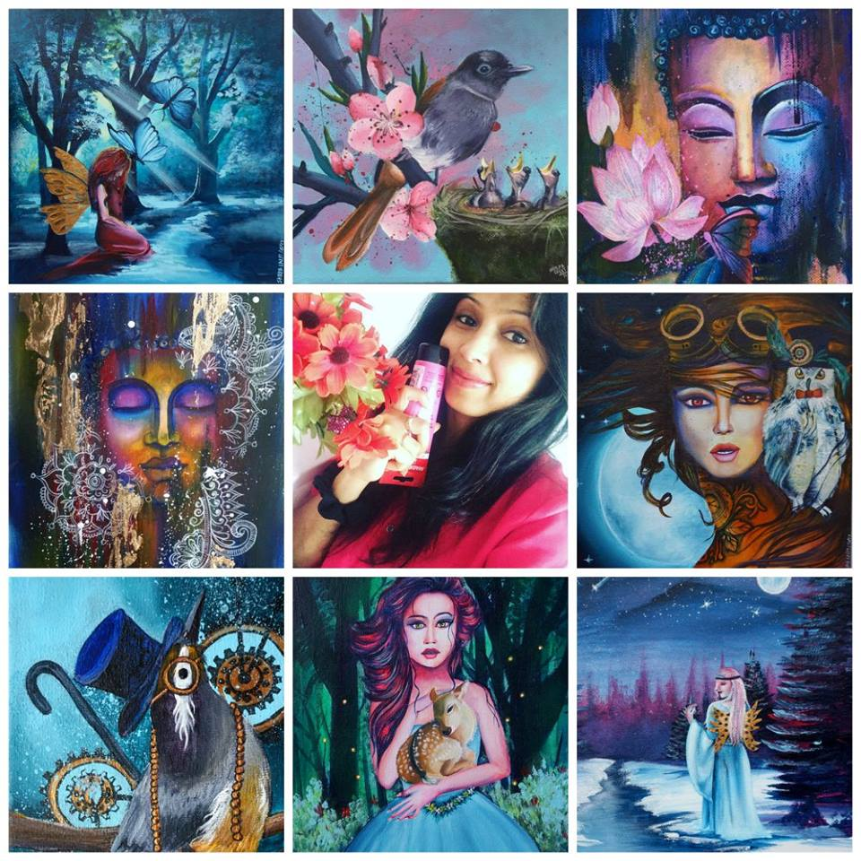 Currently I am - 1) Content creator of this WEBSITE , which is basically my online home2) Founder of online art school ARTYSHILS ART ACADEMY, which is my passion project and the place where I share everything I know about how to draw and paint some beautiful Acrylic and mixed media paintings, through very in depth workshops.3) Core member of the online art auction group SOUL SISTERS UNITED ART COLLECTIVE , where I sell my work through monthly auctions.4) Owner and Creator of the YouTube art channel ARTYSHILS ART .5) I am also working on launching a new line of art materials under my company