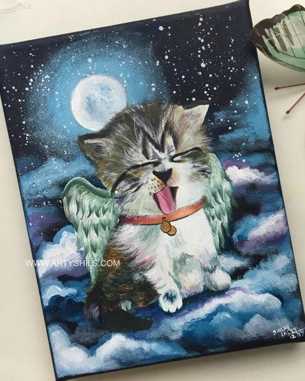 """ Bella the angel cat """