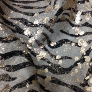 OUT OF STOCK - Baby Zebra Black and White with Gold
