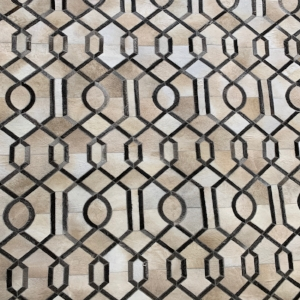 Stain Glass Cowhide Area Rug #10