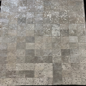 Silver and White Area Rug #35