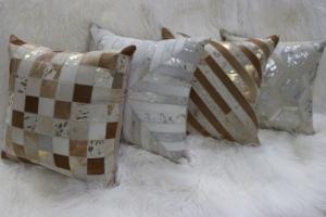 Metallic and Small Pathwork Pillows