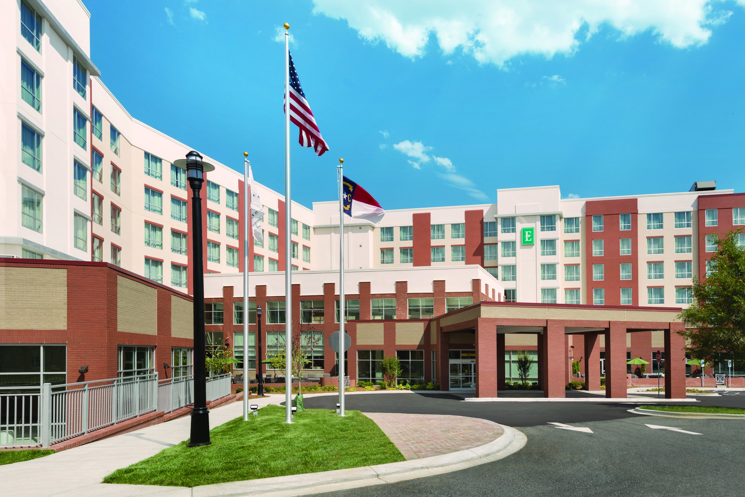 Just of Interstate 485, this polished all-suite hotel is 5 miles from Carowinds seasonal amusement park and 8 miles from the Billy Graham Library.