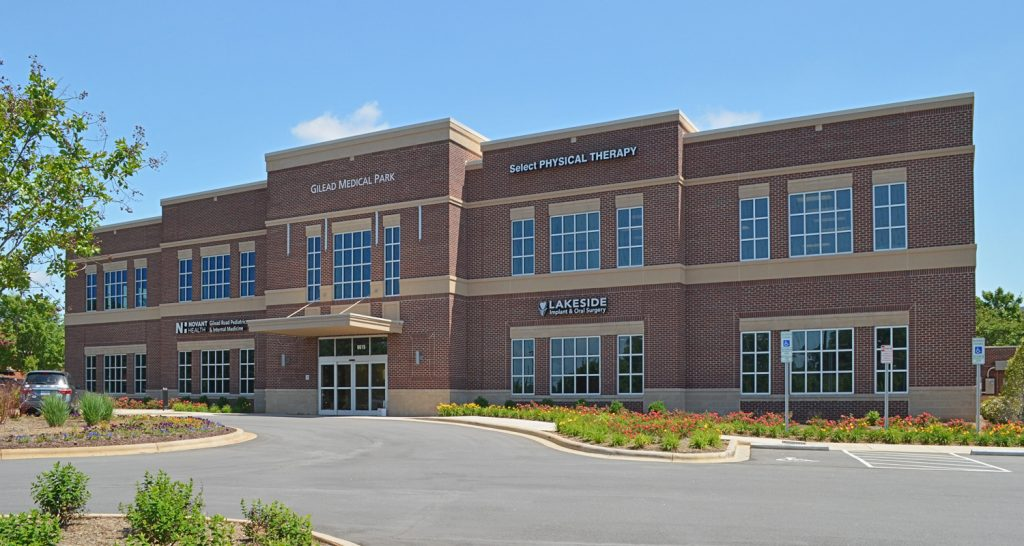 "Gilead  Medical Center  II  is a is a  2 - story  Class ""A""  medical office building  at I-77's Exit 23 in  Huntersville."