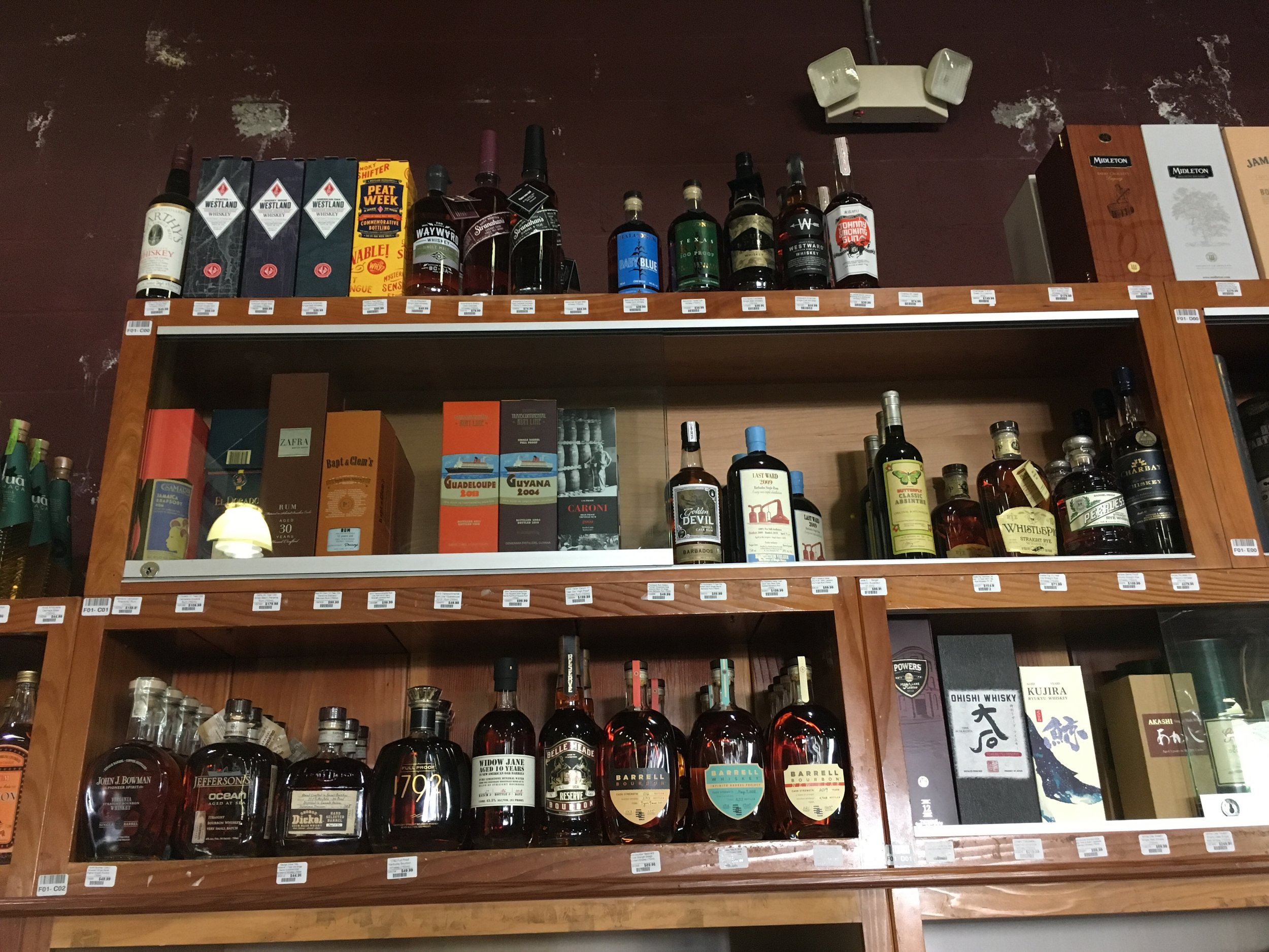 Craft whiskey deserves a place on the top shelf, and that's right where we found it at K&L Wine Merchants in Hollywood.