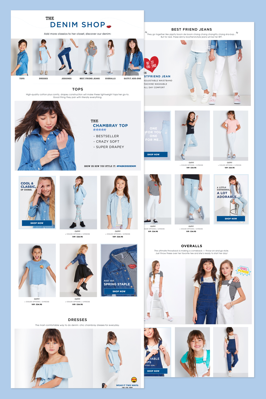 Denim Shop Desktop Landing Page