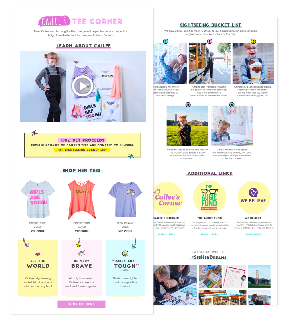 Cailee Campaign Landing Page