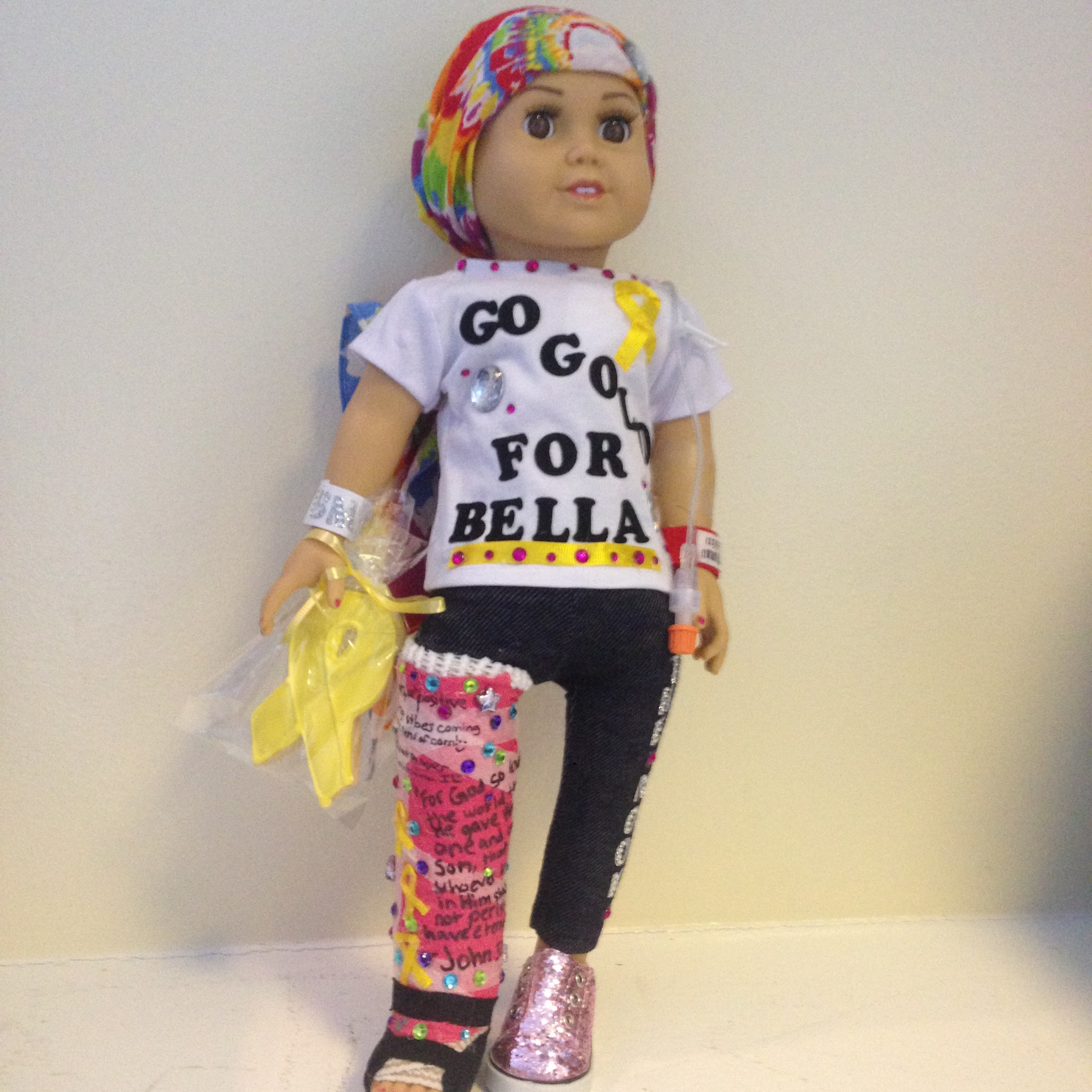 Custom made doll to look like Bella by cancer patient and dear friend, Molly.