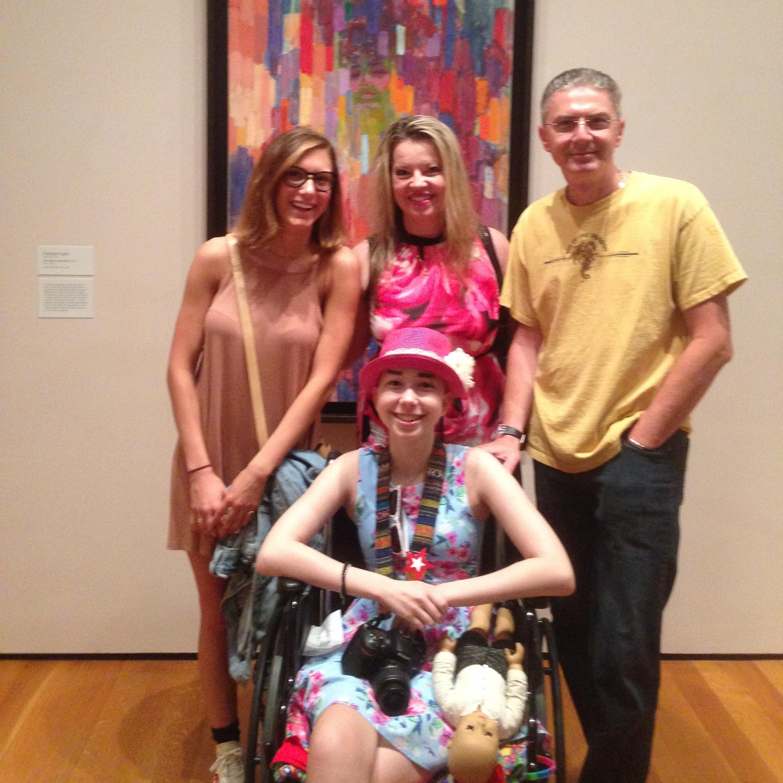 Julia, Brenda, Dorin and Bella at the MOMA in NY - July 2016