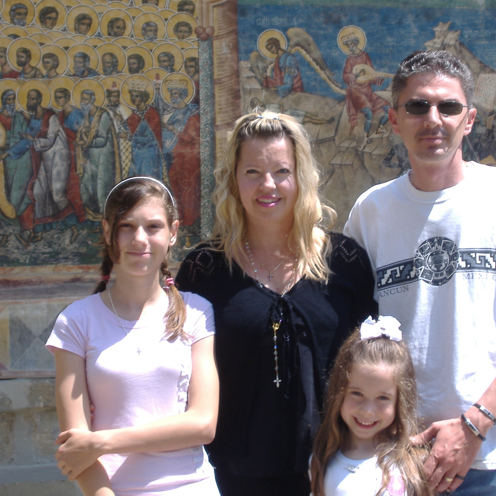Muntean family at a Romanian Orthodox Monastery in June 2009