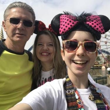 Dorin, Brenda and Bella, at Disneyland - May 2018