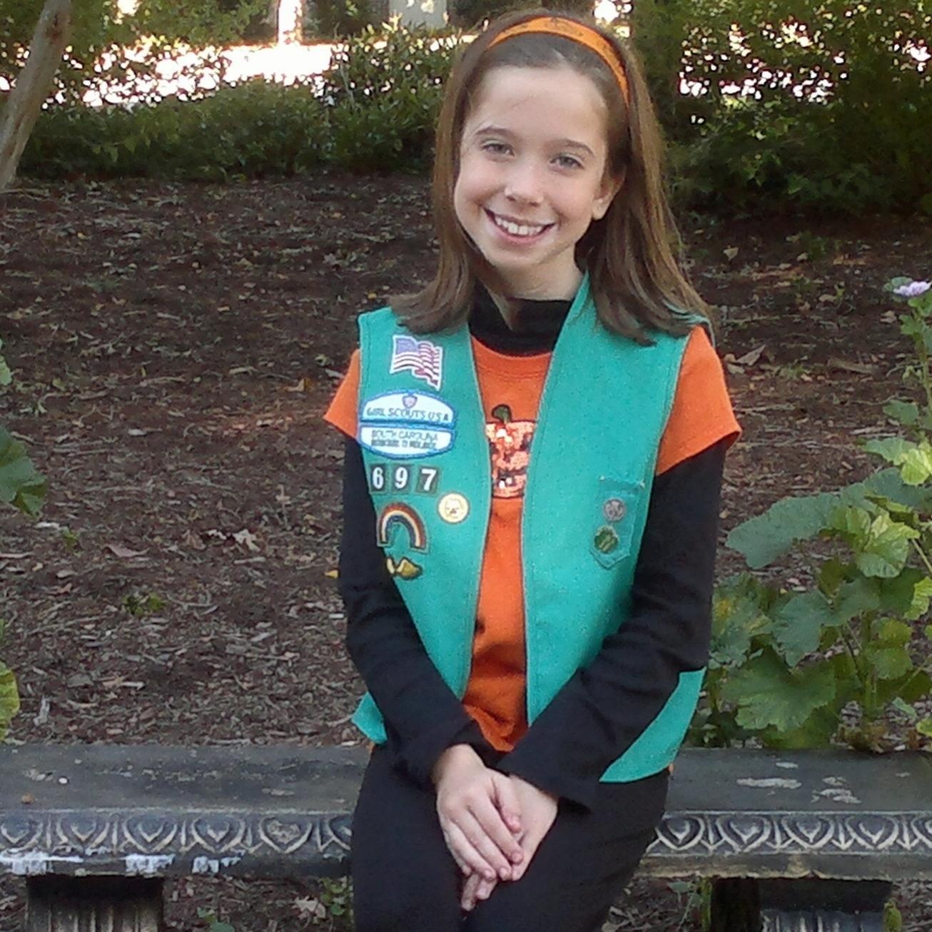 Bella as a Jr Girl Scout - October 2011