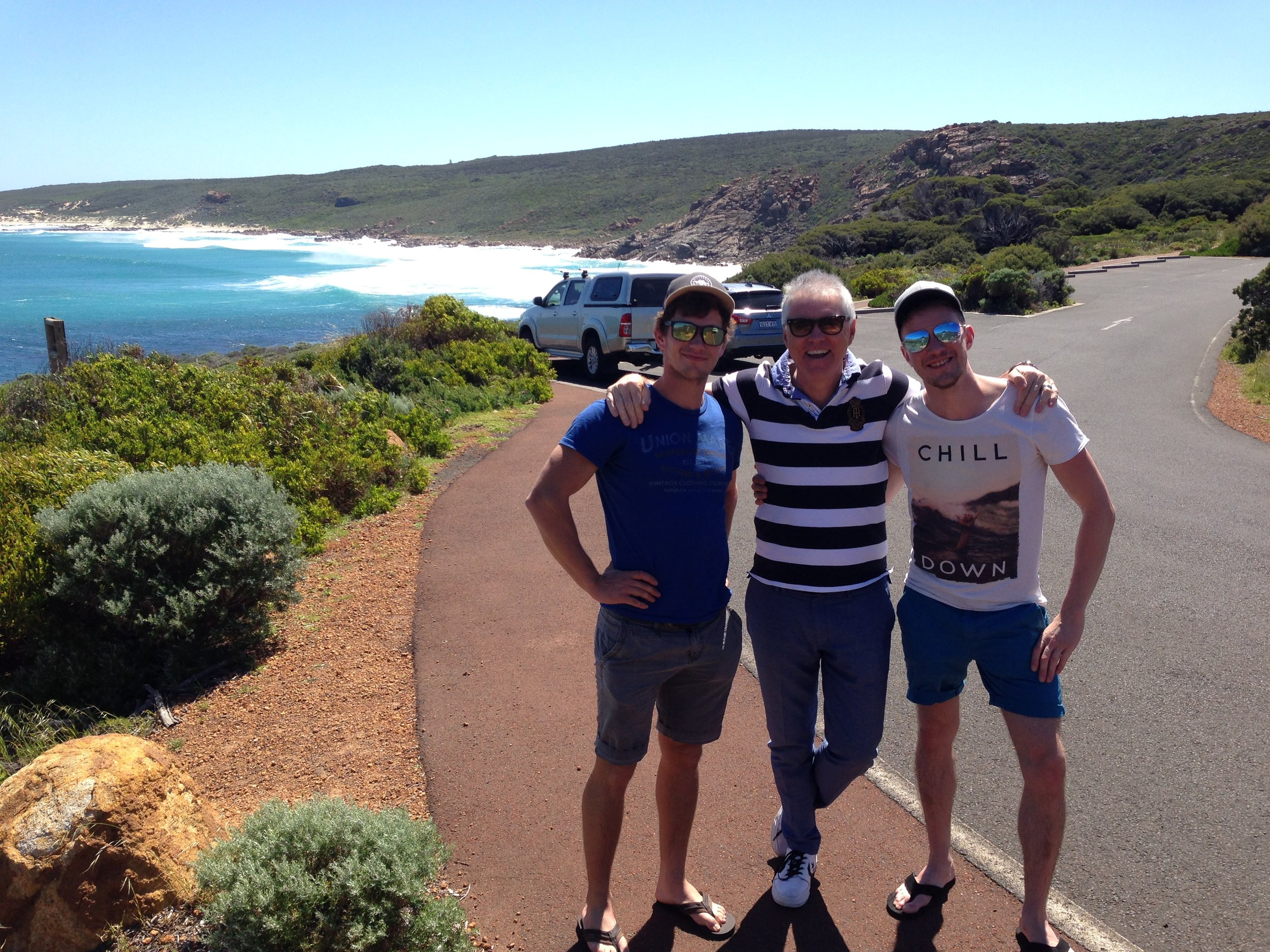 PB & the 2 young lads at SUGARLOAF  SUMMER DAY.JPG