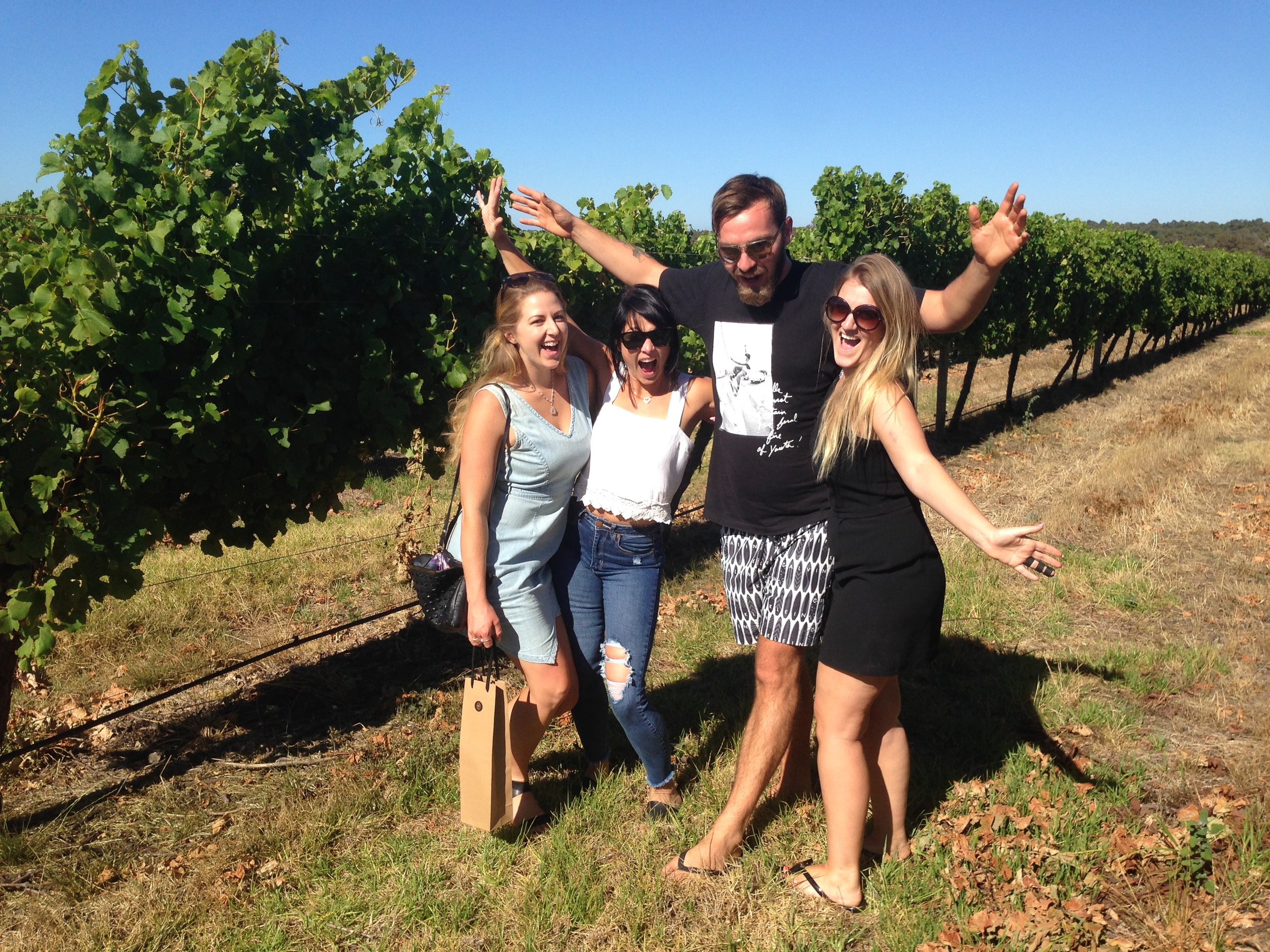 THE PULLMAN GIRKS VERY HAPPY IN THE VINEYARD  GR8 PIC.JPG