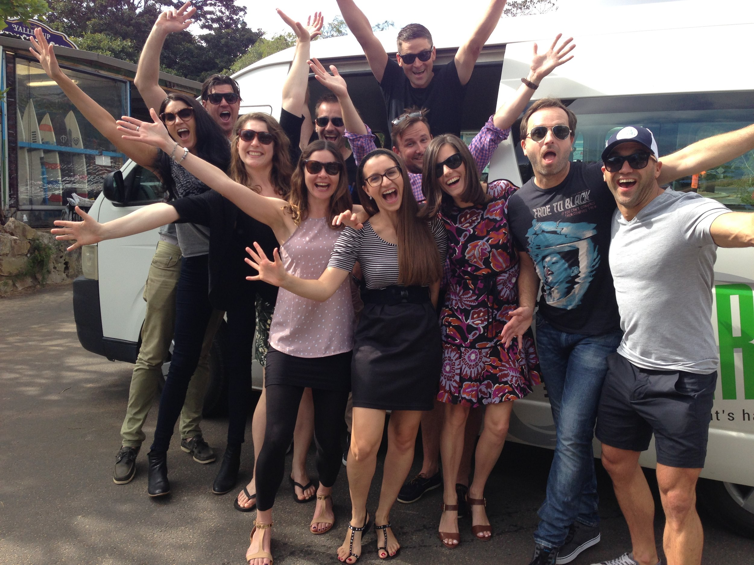 USE THIS PIC  BIG GROUP HANGING OUT OF THE BUS.JPG