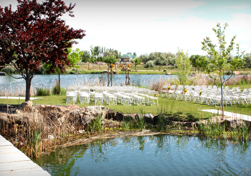 Our year round, 2-acre, pond accented by sparkling fountains.