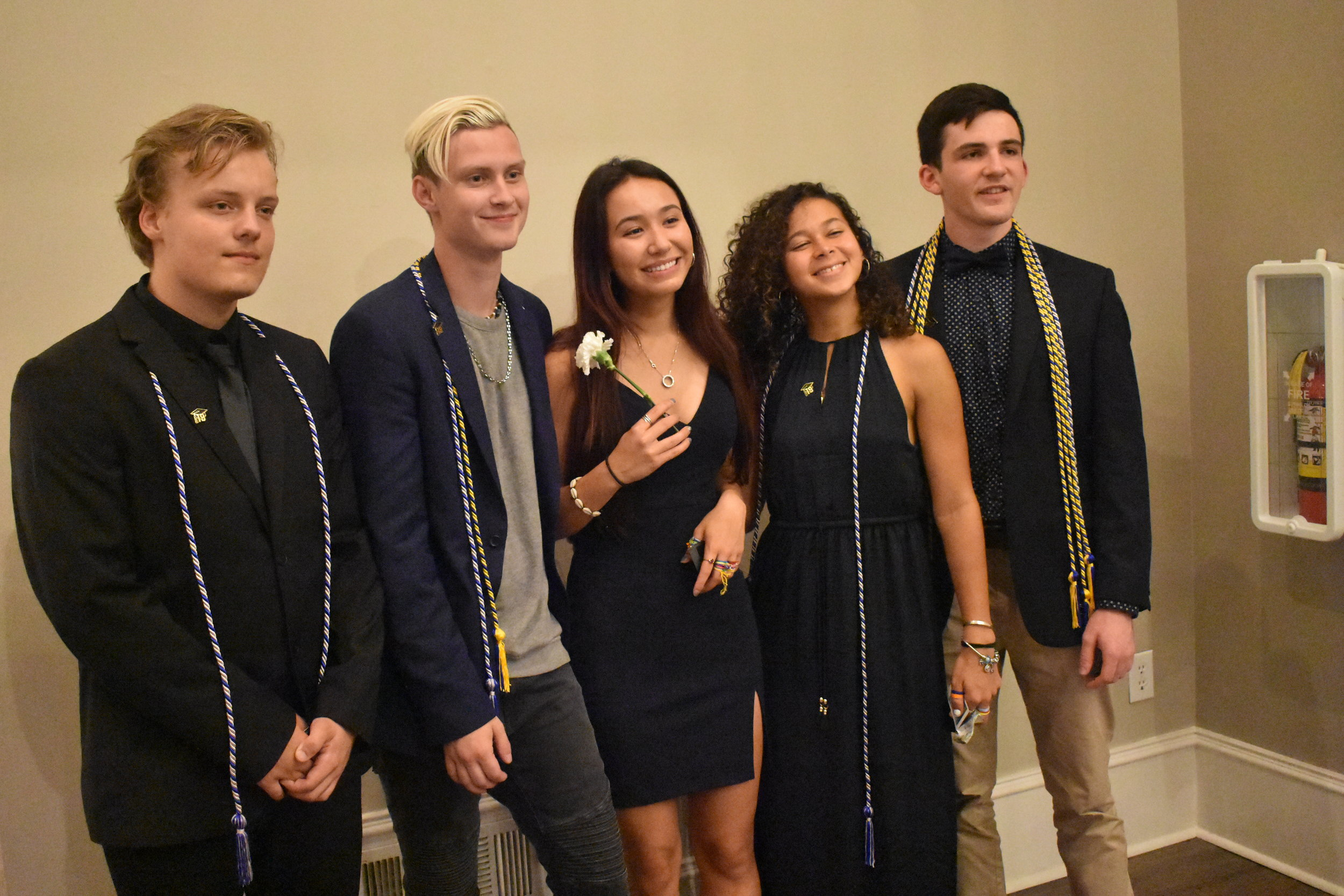 Senior Cording Ceremony - Seniors receive graduation cords at the Senior Dinner based on how many years they have completed at Brandon Hall.