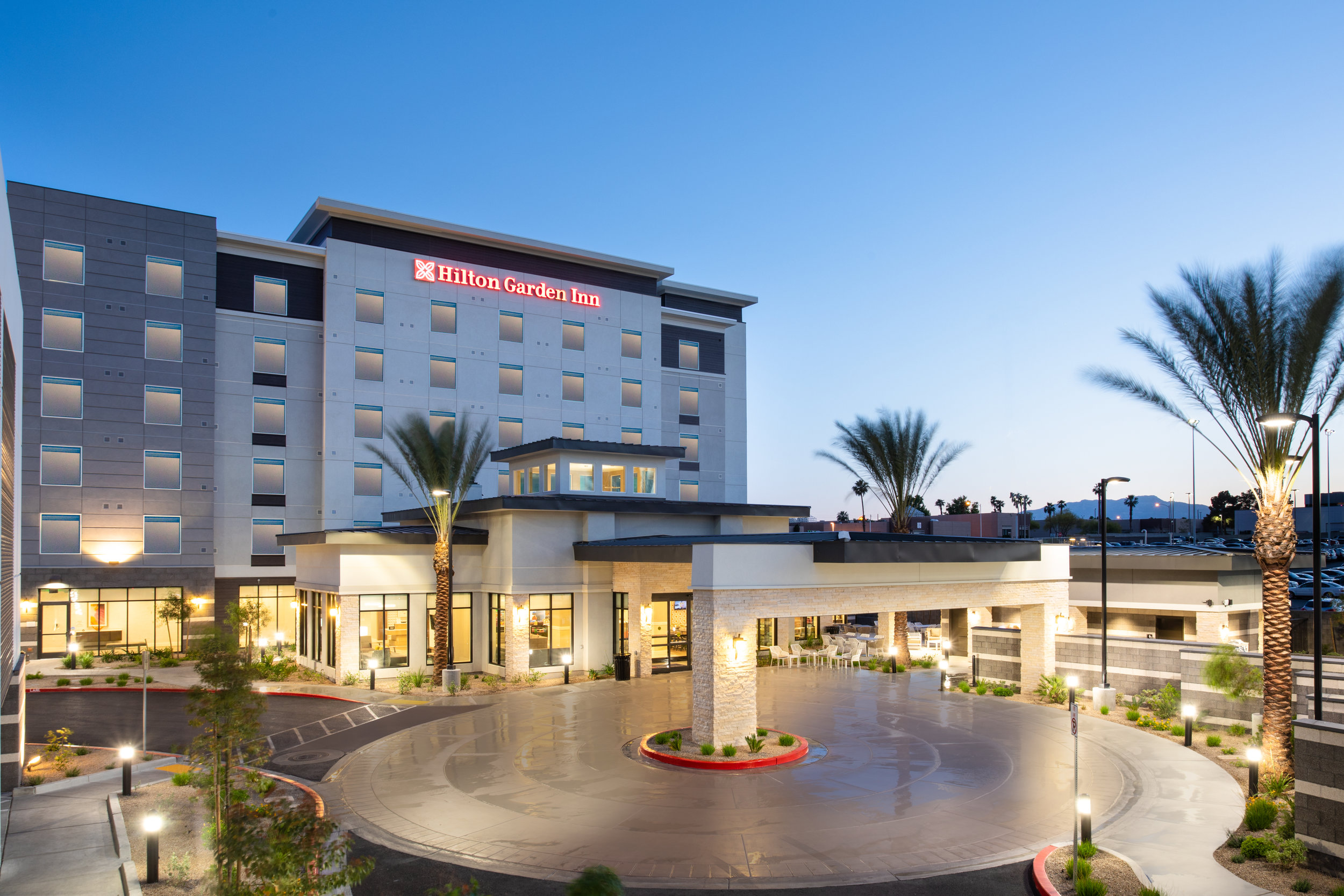 LASLGGI Hilton Garden Inn Las Vegas Exterior Dusk.jpg