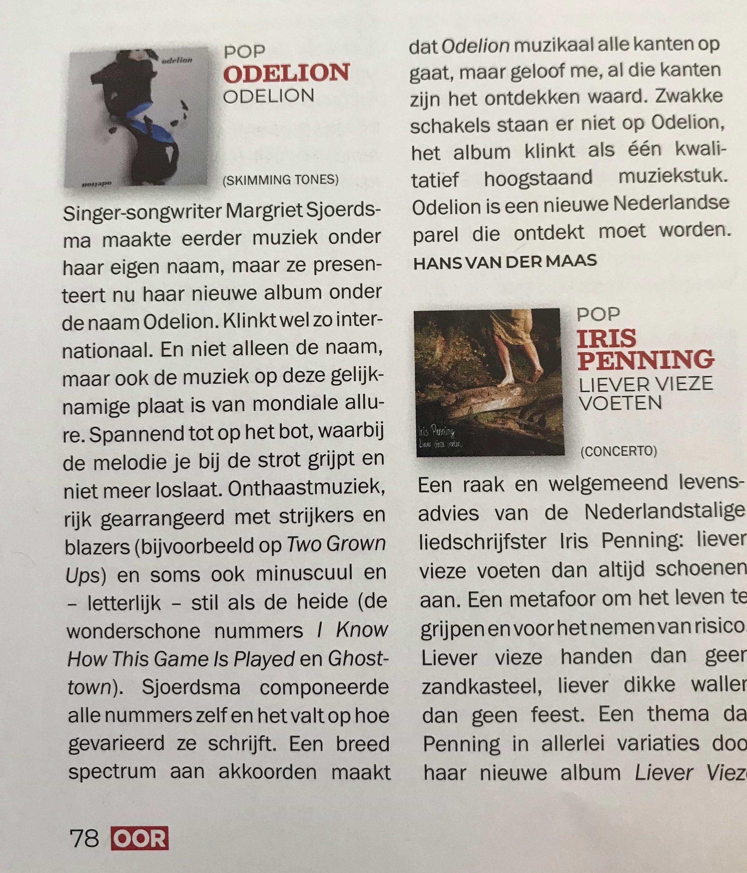 FIRST GREAT REVIEW!!! - 'ODELION IS A NEW DUTCH PEARL THAT NEEDS TO BE DISCOVERED'