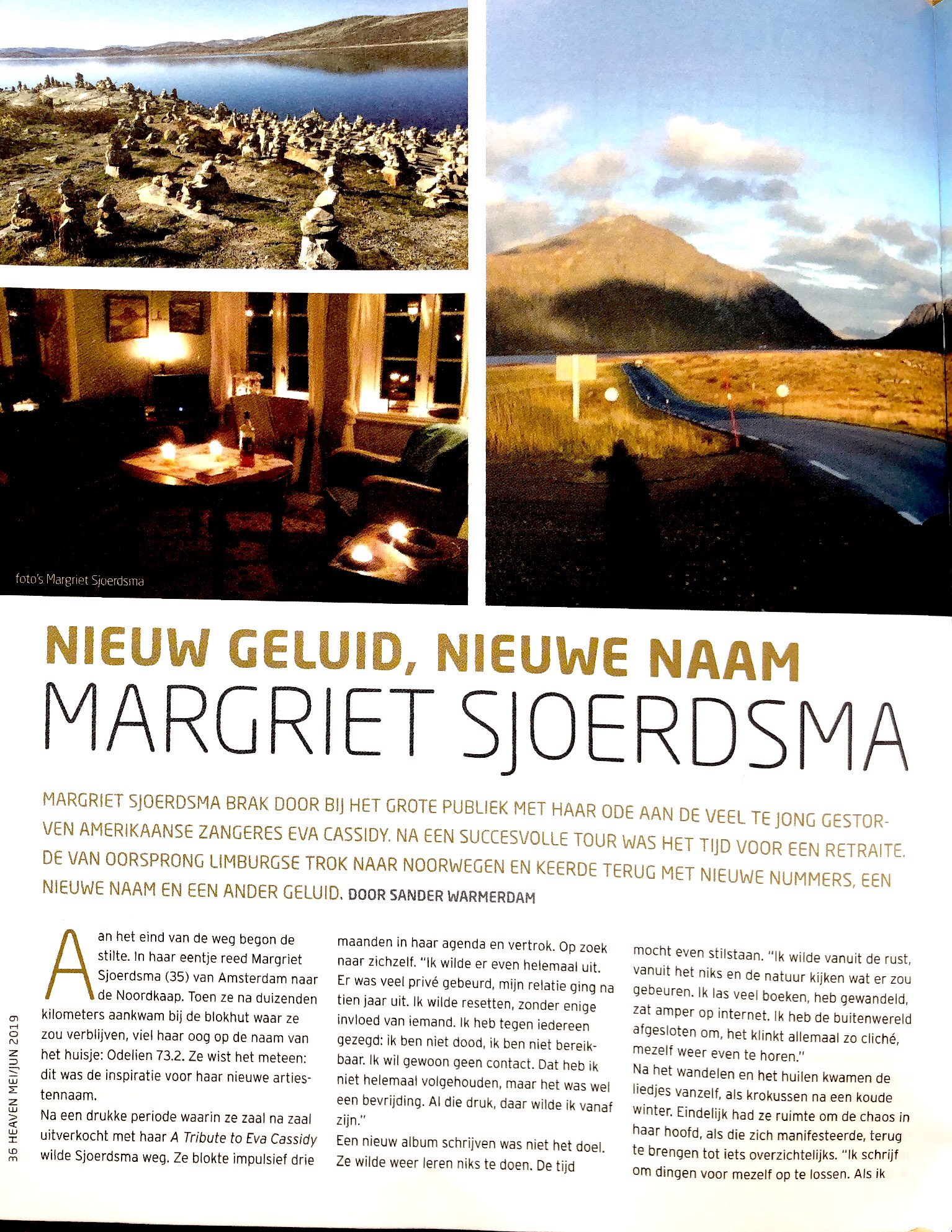 INTERVIEW IN HEAVEN MAGAZINE - About 3 months in Norway,the benefits of solitude and silence!