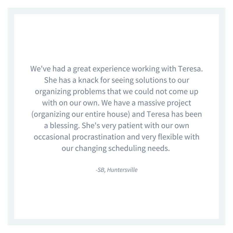 All-inclusive professional organizer Charlotte testimonial