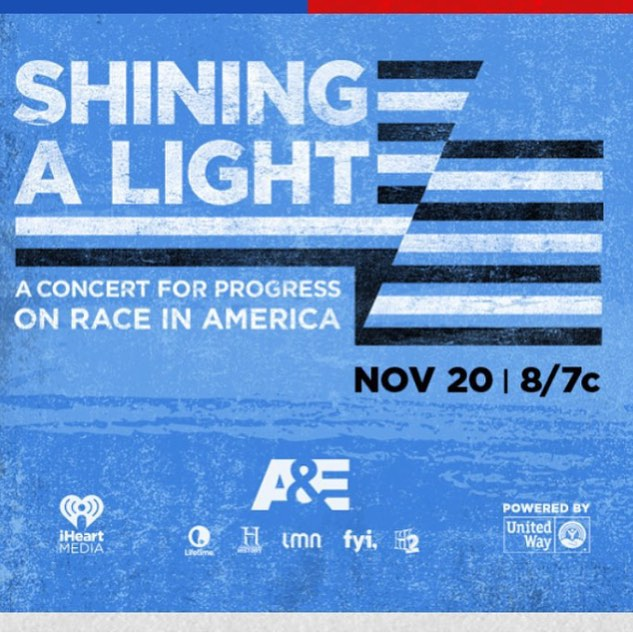 Tomorrow: Watch A&E's #shiningalight ‬ concert for progress on race in America featuring Springsteen, Pharrell, Sting, Sia, Ed Sheeran, John Ledgend, and many others. The concert broadcast is helping to create a fund in partnership with United Way that will support grass roots organizations working on the front lines of racial justice in our most vulnerable and divided communities. We're honored to be on the steering committee for the fund from the broadcast.