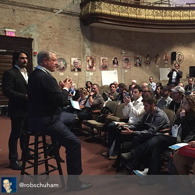 @morepartnerships was honored to work alongside @rdemato & @robschuham to moderate a #FoSTforGood session on Climate Change w/ former Vice President Al Gore at #FoST2015 (ReGram courtesy of Rob Schuham)