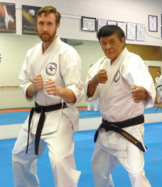 Shihan Kyle Nichols is 4th Degree (Yondan) in Karate. He has been studying at our school since his teens, and he is the second generation of his family here!