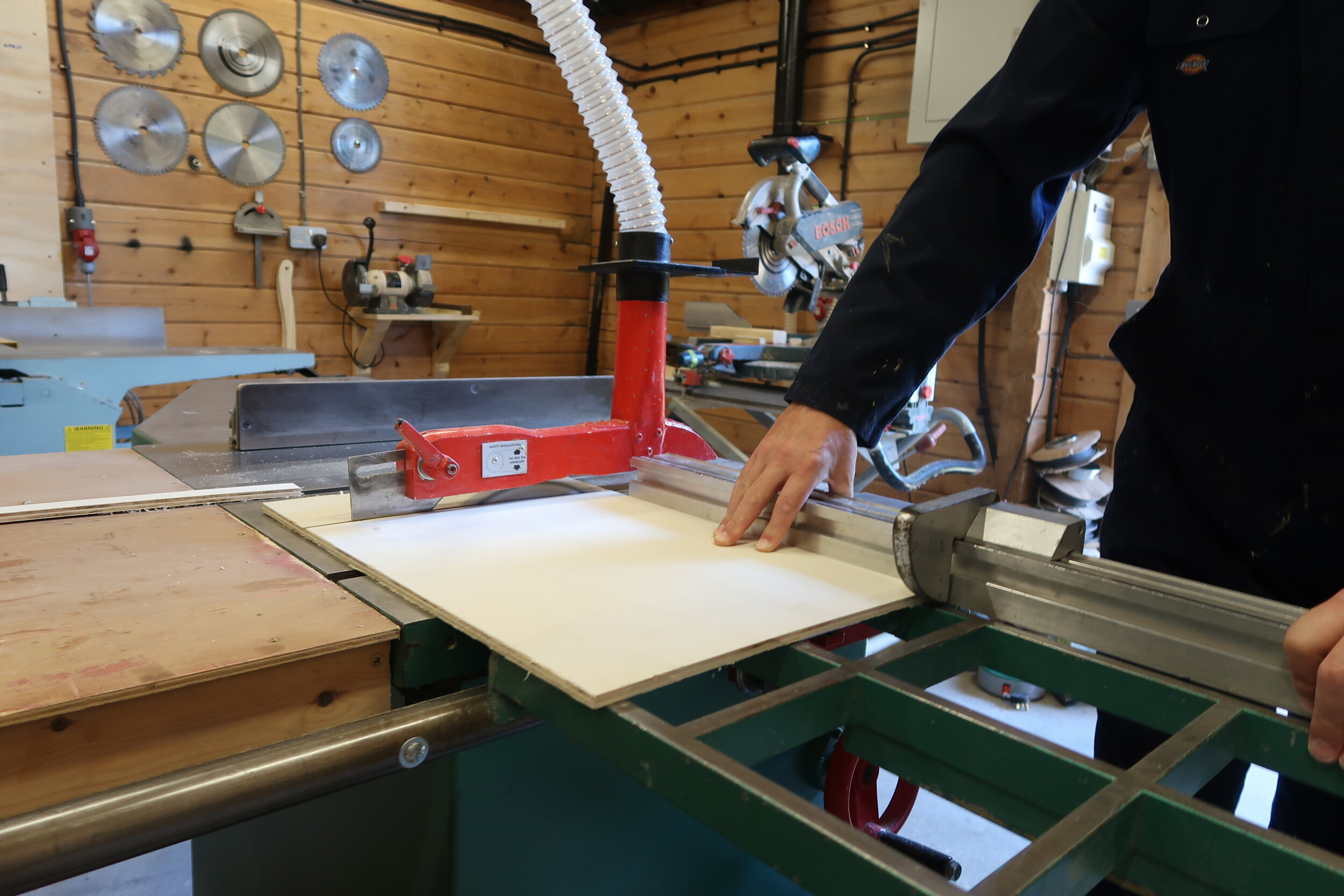 - Once the designs are approved its time to start building your new furniture. We aim to have projects ready for installation in 8-10 weeks, 6 weeks for individual pieces of free standing furniture. Each piece is crafted from certified sustainable timber using traditional cabinet making techniques, any wall panelling or furniture in bathrooms or near moisture sources is constructed from completely waterproof material.