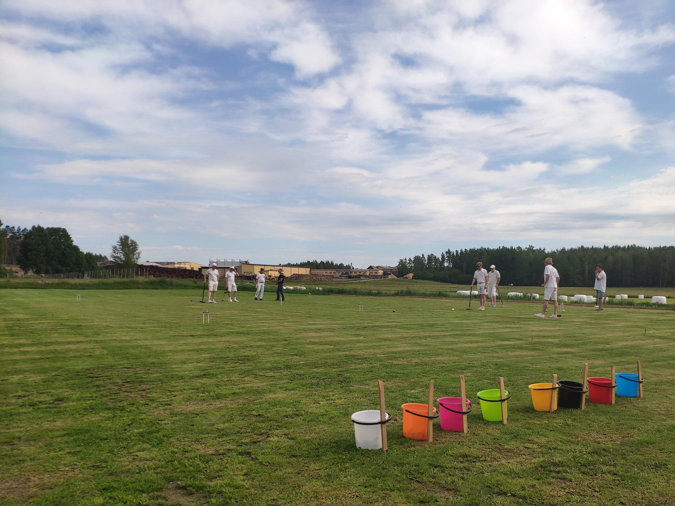 Sm i golf croquet dubbel - Nu är SM i Golf Croquet i Frödinge igång!
