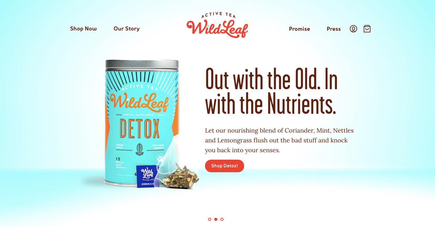 WILD LEAF /  Website + E-comm