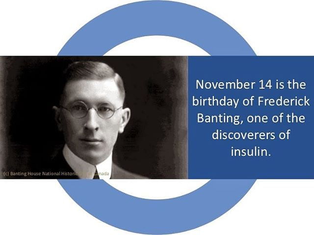 Happy World Diabetes Day and happy 127 birthday Dr Frederick Banting, co-dicoverer of insulin and the reason all us Type 1 Diabetics are alive today! #insulin #diabetes #T1D #t1dlifeunbound #frederickbanting #worlddiabetesday #diabetesawarenessmonth