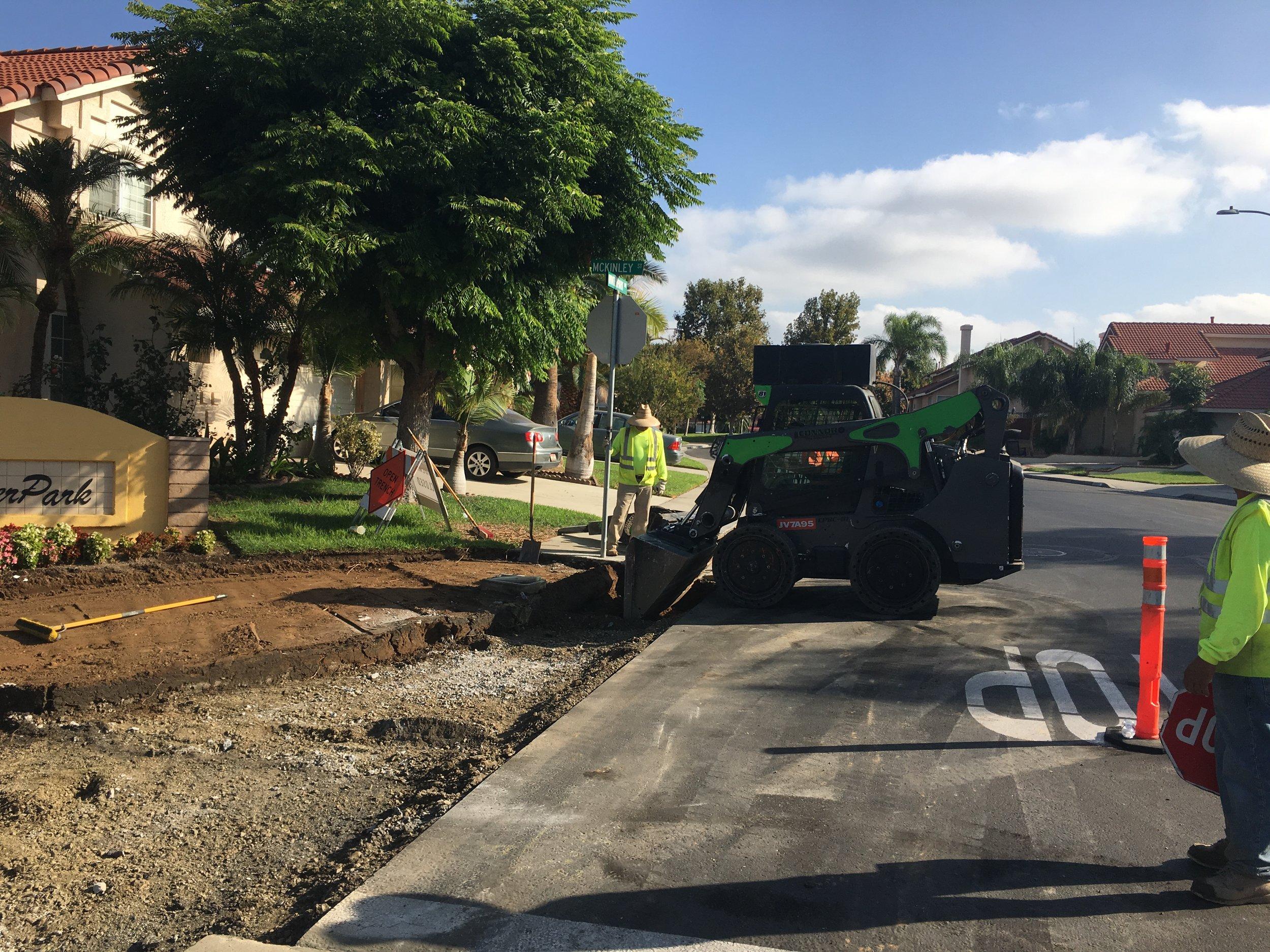 EBS placing concrete spandrels