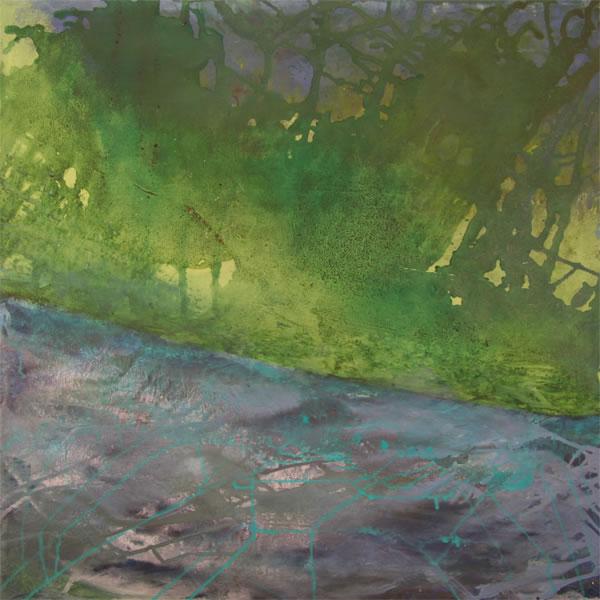 "White River Jamaica Oil/Acrylic 18"" x 20"""