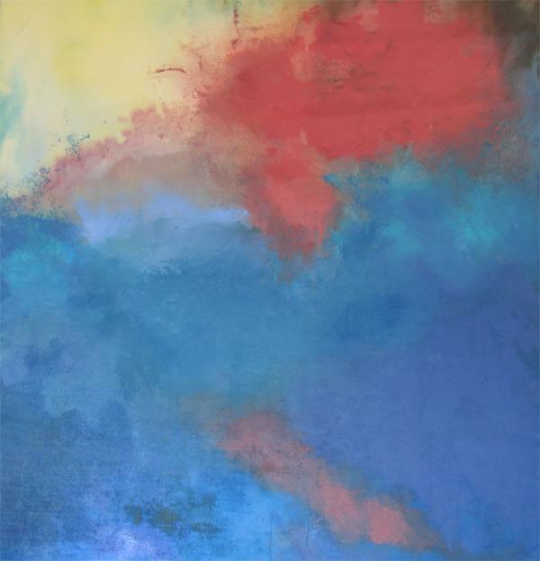 "Red Cloud Acrylic 34"" x 36"""