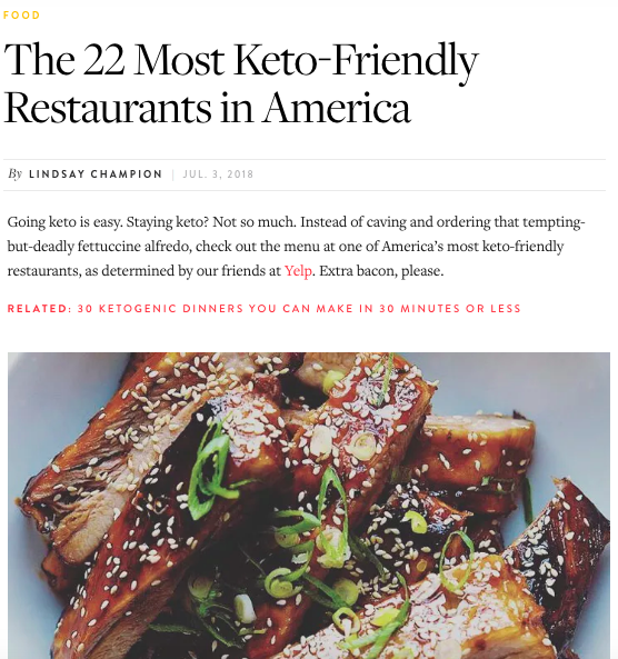 22 Most Keto-Friendly Restaurants in America Article Cover Pic.png