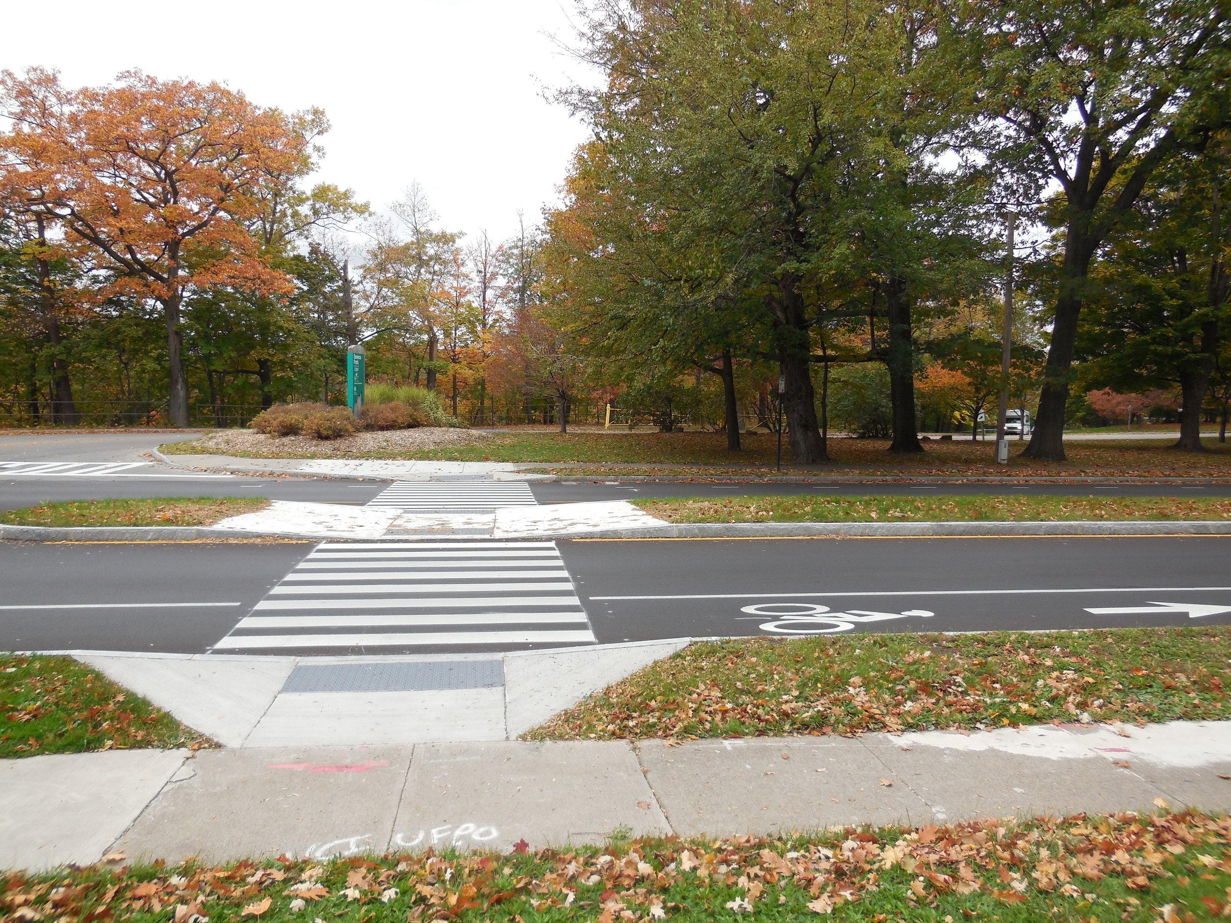 Mid-block Crosswalk with Center Refuge