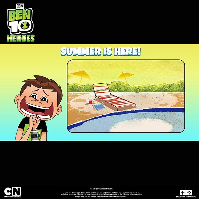 Summer is here! Do you know what that means? Ben 10 Heroes is coming out to play! #Ben10Heroes #Ben10 #Summer #MobileGames  Download for FREE!: Apple: https://apple.co/2HFkDyp Google Play: http://bit.ly/2QvANNQ