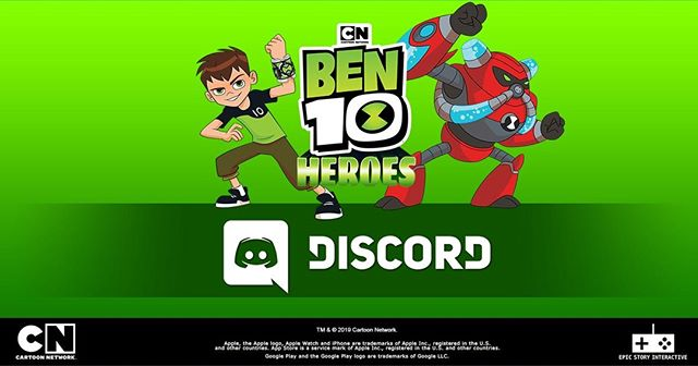 Catch us on Discord! You can talk to Developers directly by clicking this link https://discord.gg/SncDqKT #Ben10Heroes #Discord #CartoonNetwork #Ben10
