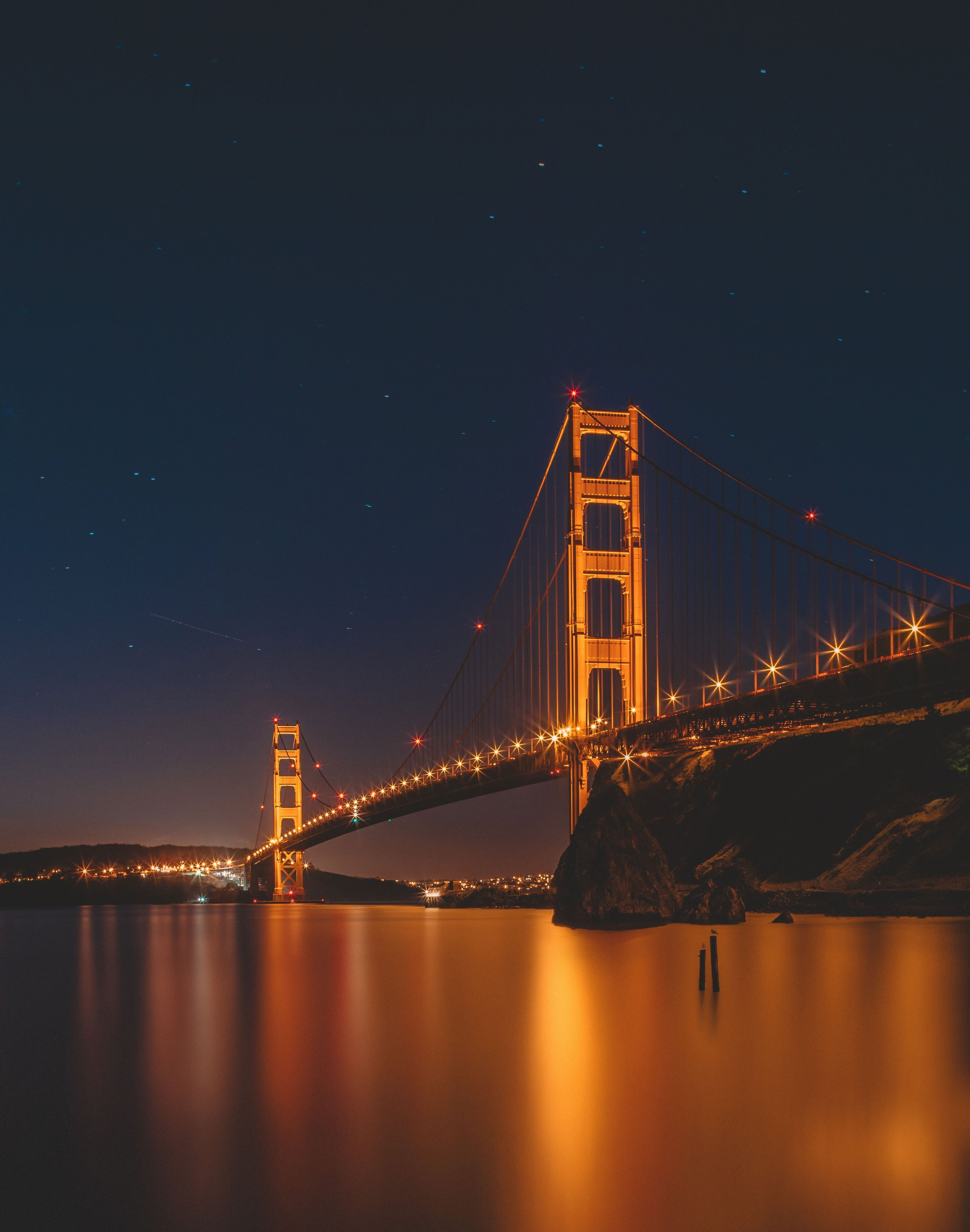 Night Lights in Marin at Fort Baker. Photo by  Ian Simmonds  on  Unsplash