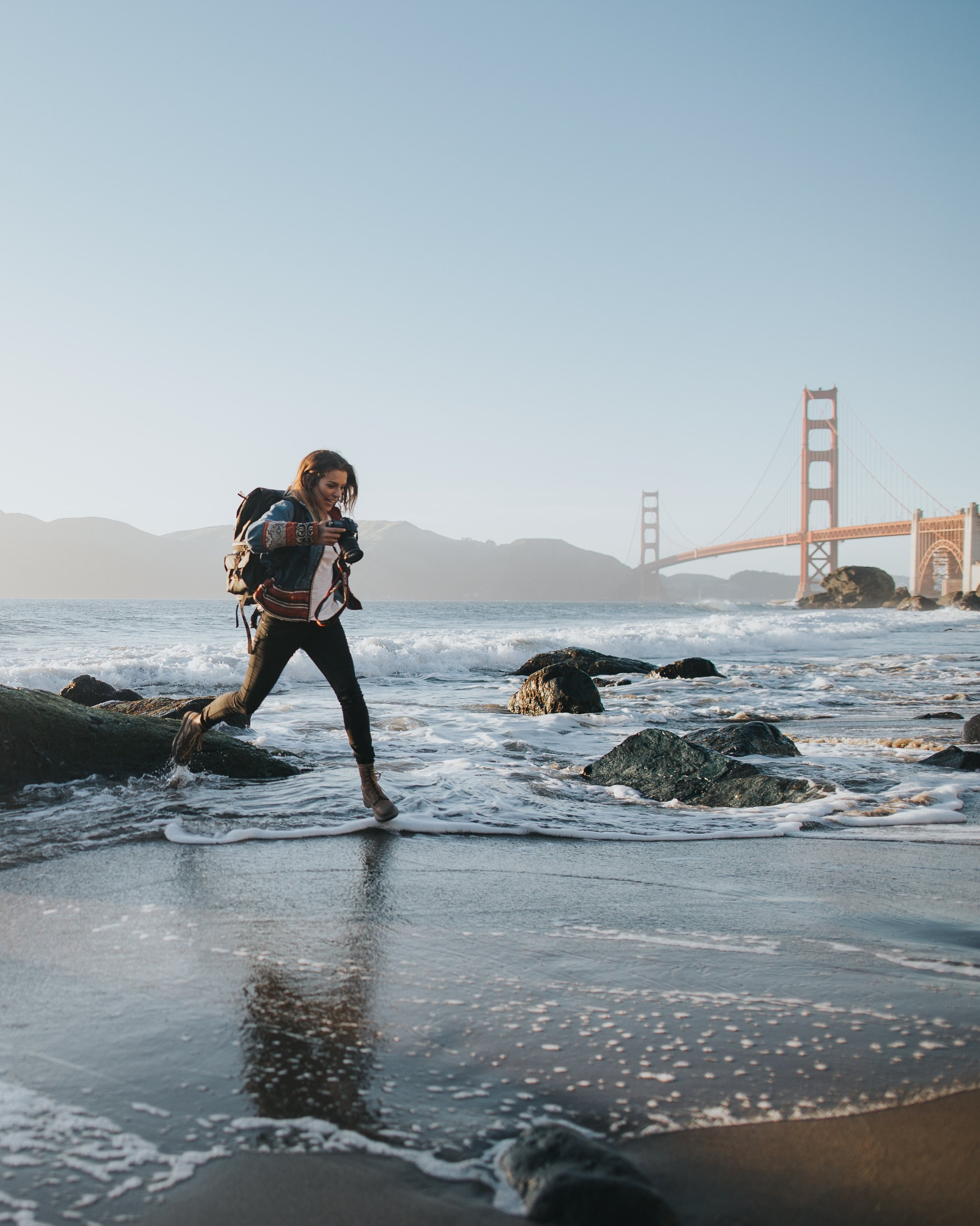 At Baker Beach you may have the Golden Gate Bridge to yourself. Photo by  Ivana Cajina  on  Unsplash