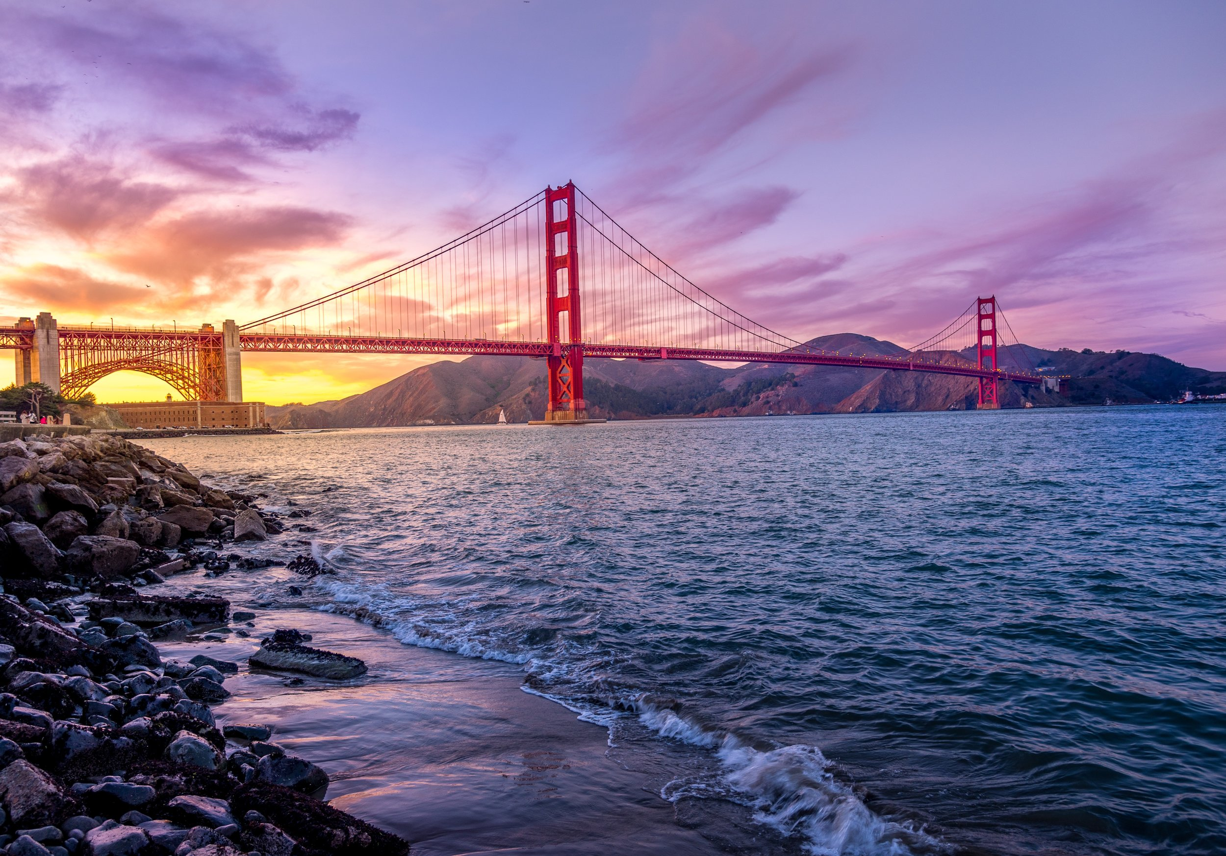 San Francisco on on side, Marin County on the other. Photo by  Umer Sayyam  on  Unsplash