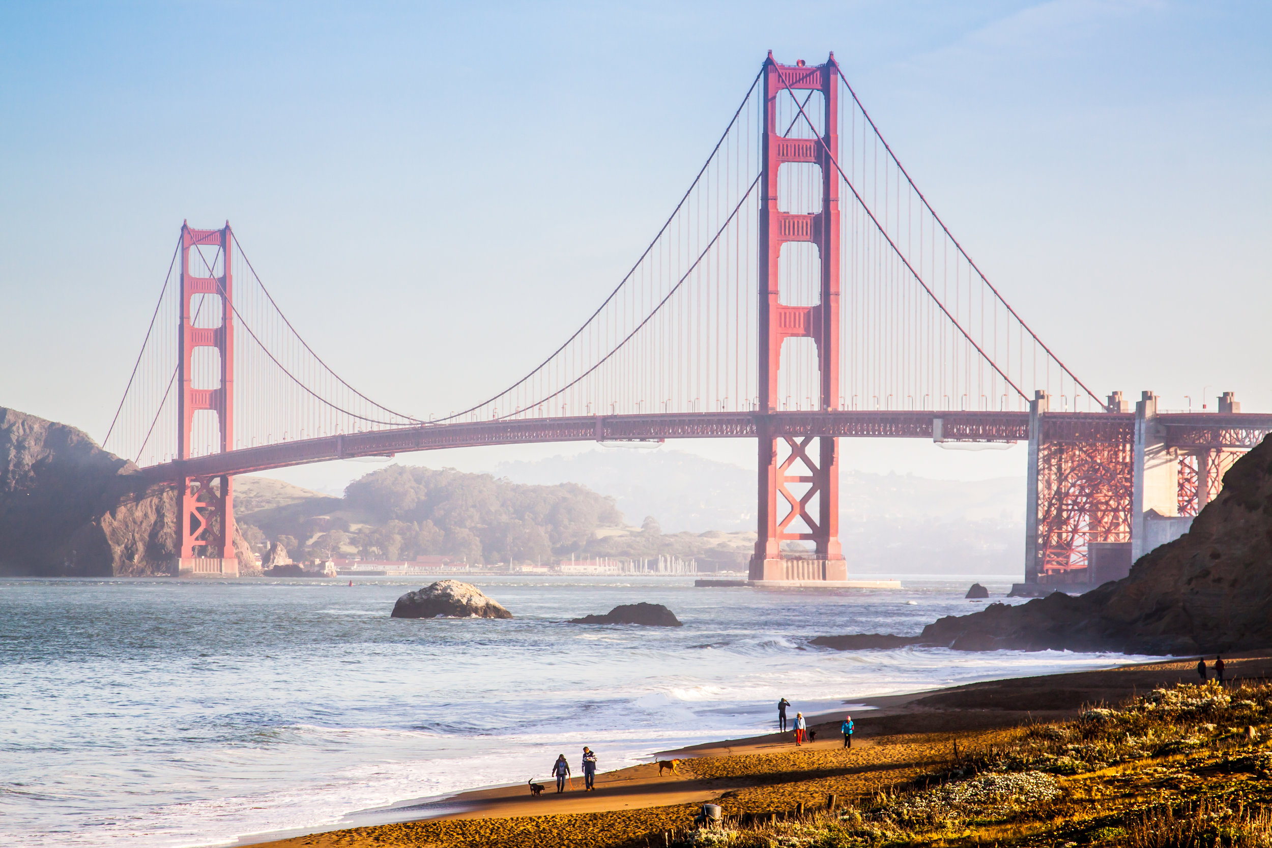 Did you say you want a good view of the Golden Gate Bridge? Baker Beach delivers!