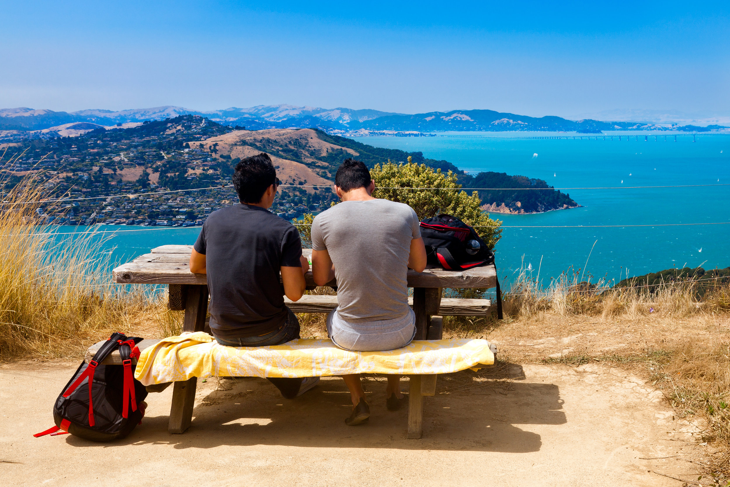 Picnic with a view on Angel Island.